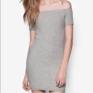 [TopShop] Textured Bodycon Off The Shoulder Dress